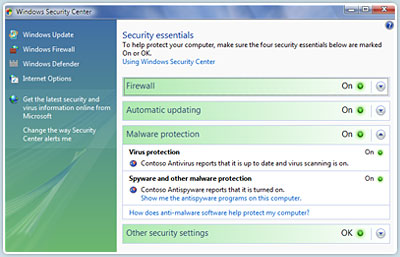 Microsoft Windows Security Center