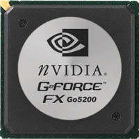 NVIDIA GeForce FX Go 5200 Chip